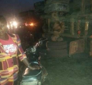 Magic? Tipper Driver Disappears From Accident Scene In Abuja (Photo)